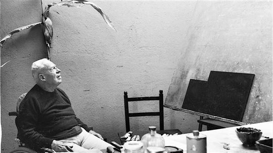 William Congdon dans son atelier