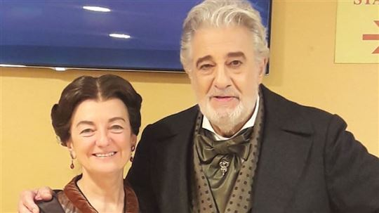 Avec Placido Domingo